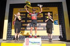 Stage 5. Limoges to Le Lioran  Greg Van Avermaet. Stage winner and Yellow Jersey.