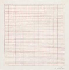 Agnes Martin - watercolour, coloured pencil and graphite on tracing paper Agnes Martin, Deconstruction, Colored Pencils, Art History, Modern Art, Clip Art, Fine Art, Abstract Sculpture, Graphite