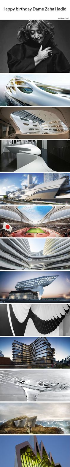 Happy birthday Dame Zaha Hadid!   Check out the 80 projects by Zaha Hadid Architects on Archilovers: www.archilovers.c...