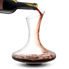 JoyJolt Lancia Wine Decanter Lead-free Crystal Hand Blown Wine Aerator, Glass Red Wine Carafe Red Wine Accessories, This Wine Decanters Are A Great Gift for Wine Lovers. Drink for joy with JoyJolt Crystal wine decanter. Red Wine Decanter, Wine Carafe, Wooden Wine Boxes, Gifts For Wine Lovers, Glass Material, Cut Glass, House Warming, Lead Free, Crystals