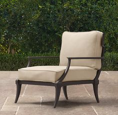 Klismos Lounge Chair Painted Metal | Ottomans | Restoration Hardware