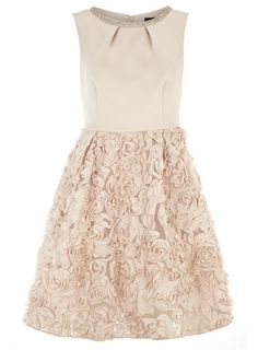 This would be great with a belt...Blush embellished