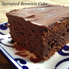 Sprouted Chocolate Brownie Cake