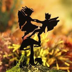 Thumpkin Fairy Garden Shadow Silhouettes - Fairy Garden Miniatures - Dollhouse Miniatures - Doll Making Supplies - Craft Supplies