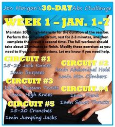 30 day challenge - week 1