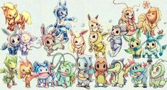 Evee's were always my favorite Pokemon to try and evolve love how cute each one was Pokemon Stuff, Cute Pokemon, Pokemon Fan, All Pokemon, Pokemon Memes, Gotta Catch Them All, Catch Em All, Pokemon Fusion, Evolution