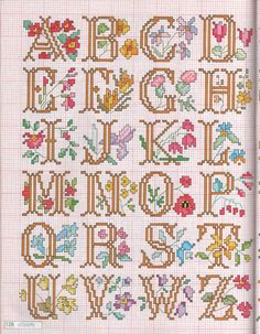 Floral Cross Stitch Alphabet