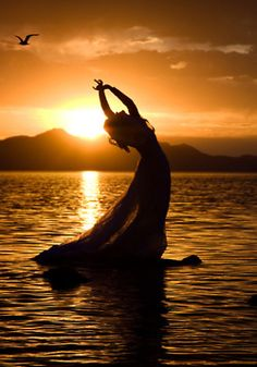Reminiscent of The Little Mermaid - Yoga, Water, Sunlight by Yoga Nacho
