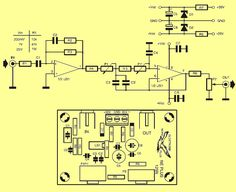 Active subwoofer filter circuit based on Opamp is designed for use with Power amplifier with good parameters (narrow frequency response). Lan Party, Class D Amplifier, Circuit Diagram, 4 Channel, Electronics Projects, Bass, Filters, Retro