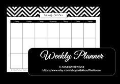 Weekly Planner Printable - Chevron Family Planner - PDF - Weekly Goals - Weekly Meal Planner Printable.   Household Binder  https://www.etsy.com/listing/124277893/weekly-planner-printable-chevron-family