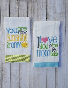 41 Ideas Embroidery Baby Patterns Burp Cloths For 2019 Baby Embroidery, Embroidery Monogram, Embroidery Designs, Baby Burp Cloths, Burp Cloth Set, Burp Cloth Diapers, Baby Bibs, Sewing Baby Clothes, Burp Rags