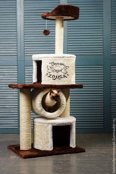 """Купить Домик для кошек """"Муся"""" джут - кошка, Когтеточка, Игровой домик, кот, дом для кошки"""