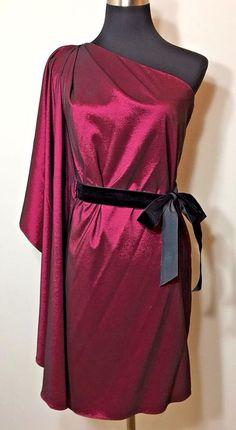 Badgley Mischka Womens Size S Dress Pink Cocktail Ball Homecoming Mark James #BadgleyMischka #OneShoulder #Cocktail