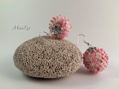 Excited to share the latest addition to my #etsy shop: White crochet round ball earrings with pink seed beads https://etsy.me/2J4zCn6 #jewelry #earrings #pink #glass #no #girls #white #sphereball #earlobe