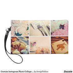 Custom Instagram Photo Collage Wristlet