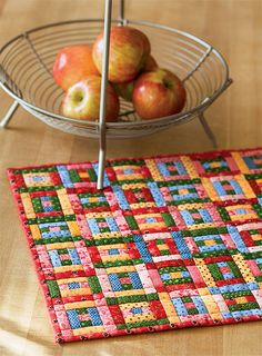 "- Pennsylvania Puzzle Quilt using 1"" strips Finished Size: 15″ x 15″ Finished Blocks: 36 (2½"") blocks"