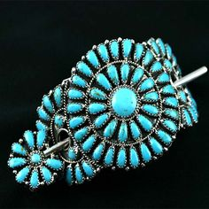 Native American Indian Turquoise Pony Tail Hair Jewelry   eBay