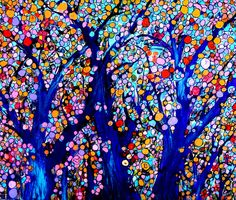 Jeweled Forest Painting  - Jeweled Forest Fine Art Print
