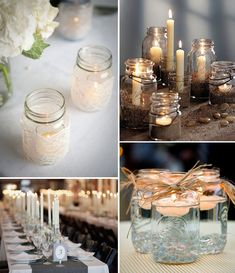 Hey Look: Purkkeja ja pulloja maljakoiksi – Ellit. Diy Wedding, Wedding Gifts, Wedding Flowers, Dream Wedding, Christmas Inspiration, Wedding Inspiration, Sweet 16 Birthday, Tea Light Holder, Flower Decorations