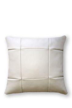 White leather pillow.