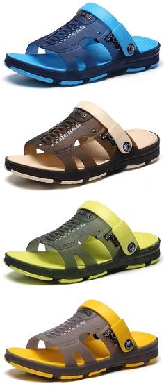 e4cd7d3841c0 Men Hole Soft Water Friendly Sandals Casual Beach Shoes is comfortable to  wear