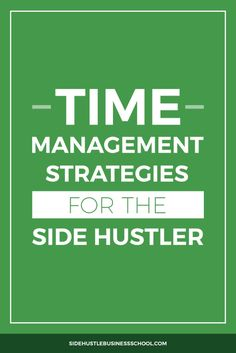 We can all benefit from new time management strategies — side hustler or not. This post is best for busy people who would like to start a side business. Home Based Business, Business School, Business Tips, Time Management Strategies, Are You Serious, Online Entrepreneur, Personal Finance, How To Plan, Traffic Sign