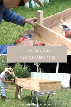 There are many benefits to using raised vegetable garden beds in your garden. For starters, elevated garden beds are easier on your back and knees because they require less bending, kneeling and crawling than . Cheap Raised Garden Beds, Building Raised Garden Beds, Raised Beds, Raised Gardens, Gardening For Beginners, Gardening Tips, Handmade Home, Square Foot Gardening, Garden Boxes