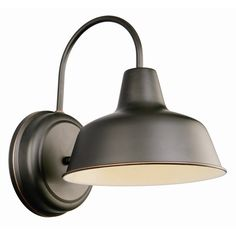 Features:  -Wall sconce.  -Outdoor Downlight.  Product Type: -Barn Light.  Finish: -Oil Rubbed Bronze.  Hardware Finish: -Oil Rubbed Bronze.  Fixture Material: -Metal.  Hardware Material: -Aluminum.