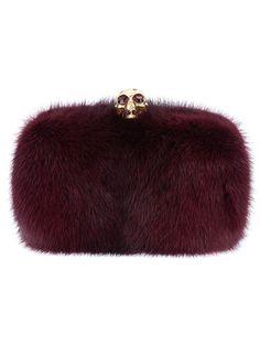 Alexander Mcqueen Mink Fur Box Clutch - - Farfetch.com
