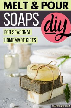 Melt and pour soap recipes. Hundreds of easy melt and pour soap recipes for beginners. Learn how to make soap with no lye with these beginning soap recipes for homemade soaps made using ready made already saponified melt and pour soap bases. An easy Soap Making Recipes, Homemade Soap Recipes, Deli News, Soap Melt And Pour, Soap Tutorial, Diy Holiday Gifts, Recipes For Beginners, Beauty Recipe, Home Made Soap