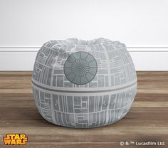 Star Wars™ Death Star™ Anywhere Beanbag ® | Pottery Barn Kids - http://www.potterybarnkids.com/products/death-star-beanbag/?pkey=cstar-wars-feature&&cstar-wars-feature