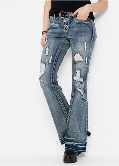 bonprix Jeans in blue denim Jeans, Clothes, Style, Products, Fashion, Cotton, Women's, Outfits, Swag