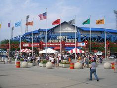 Rosenblatt Stadium Omaha, NE - so many good memories of taking our kids each year to the Men's College World Series and tailgating at the Blatt!!