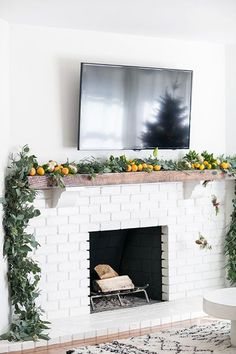 Winter Citrus - How To DIY Your Holiday Mantel - Photos