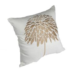 Peony Throw Pillow Cover Decorative Pillow Cover by KainKain