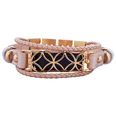 FitBit flex Jewelry - Fitbit Bracelet FUSION 2- stainless steel - rhodium plated- real leather - Fitbit Flex replacement band - available colors Gold, Rose gold, Black and Silver
