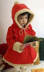 Toddler red coat, sooo cute! Must buy it for my baby girl!