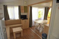 Wohn-Essbereich im Loft-Style, Camping Nevio, Mobilheim J.