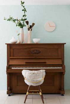 Image result for decor for upright piano