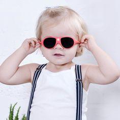 Ochelari de soare Ki ET LA, 2-4 ani - Coral - HipHip.ro Retro Baby, French Baby, Cat Eye Sunglasses, Kids Fashion, Color, Summer Kids, Bright, Orange, Products