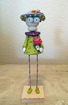 Día de los muertos dia de los muertos esqueleto niña arte por Janell Berryman Pumpkinseeds sola