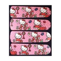 Ceiling Fan Designers 42SET-KIDS-HKSDK Hello Kitty Sweet Dreams 42 inch Ceiling Fan Blades Only