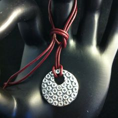 'Two sided fat pendant' SIDE TWO: What do you do with a left over bunch or reconstituted PMC?  I do this!!