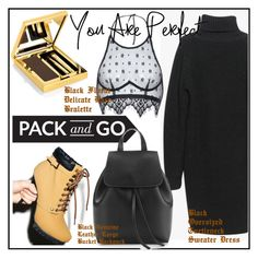 """black & yellow"" by allanaaa11 ❤ liked on Polyvore featuring C Label, Elizabeth Arden, women's clothing, women, female, woman, misses and juniors"