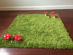 Forest Animals Woodland Nursery Rug by AndysAnimals on Etsy