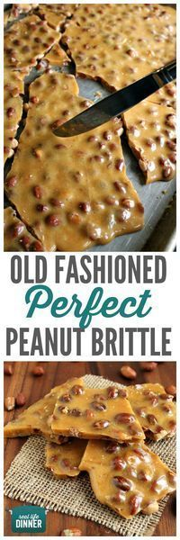 The BEST Christmas Cookies, Fudge, Candy, Barks and Brittles Recipes – Favorites for Holiday Treats Gift Plates and Goodies Bags! - Mom's Best Peanut Brittle Recipe via Real Life Dinner – Old Fashioned PERFECT Peanut Brittle ha - Peanut Brittle Recipe, Brittle Recipes, Best Christmas Cookies, Christmas Desserts, Christmas Candy, Holiday Treats, Christmas Recipes, Holiday Candy, Christmas Goodies
