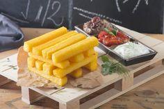 Parallelepipedi di polenta con salse | Polenta Valsugana