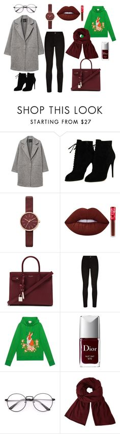 """""""autumn set - fall is coming"""" by sweetlittlebunny on Polyvore featuring moda, MANGO, Tom Ford, Skagen, Lime Crime, Yves Saint Laurent, Paige Denim, Gucci, Christian Dior i John Lewis"""