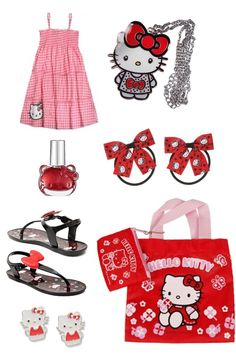 Toddler's hello kitty outfit Hello Kitty Shoes, Hello Kitty Clothes, Hello Kitty Bag, Hello Hello, Black Outfits, Casual Outfits, Cute Outfits, Indoor Swimming, Swimming Pools