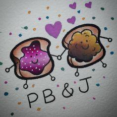 Jam and peanut butter toast tattoo